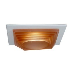 """4"""" Low voltage recessed lighting designer peach step glass white square trim"""