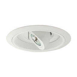 "6"" Low voltage recessed lighting highly adjustable white regressed spot eyeball white baffle white trim"