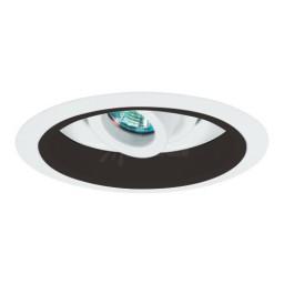 "6"" Low voltage recessed fully adjustable specular black reflector white regressed eyeball trim"