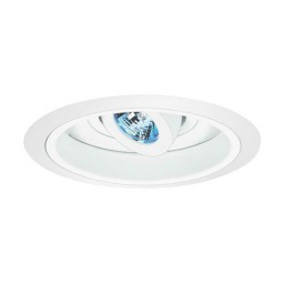 "6"" Low voltage recessed fully adjustable specular white reflector white regressed eyeball trim"