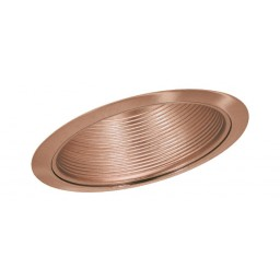 "6"" Slope recessed lighting sloped stepped copper baffle copper trim"
