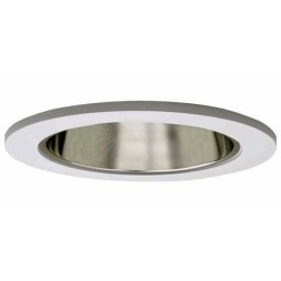 "4"" Recessed lighting air tight clear chrome specular reflector white trim"