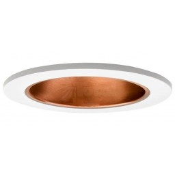 "4"" Recessed lighting specular copper reflector white trim with metal socket bracket"