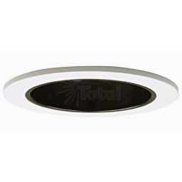 "4"" Recessed lighting specular black reflector white trim with metal socket bracket"
