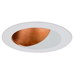 "4"" Recessed lighting specular copper reflector white wall wash trim"