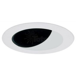 """4"""" Recessed lighting specular black reflector white wall wash trim"""