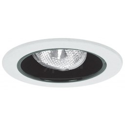 "4"" Recessed lighting adjustable socket bracket specular black reflector white trim"