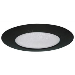 "5"" Recessed lighting shower trim with albalite lens black"