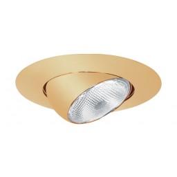 "5"" Recessed lighting Par 30 short neck polished brass eyeball trim"