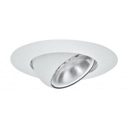 "5"" Recessed lighting white eyeball trim white"