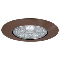 "5"" Recessed lighting shower trim with fresnel lens bonze"