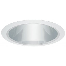 "5"" Shallow recessed lighting clear chrome reflector white trim"