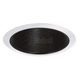 "5"" Shallow recessed lighting black baffle white trim"