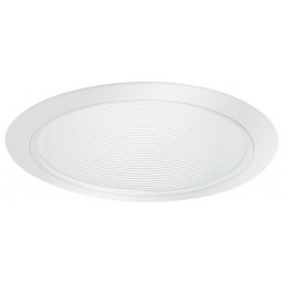 "5"" Shallow recessed lighting white baffle trim"