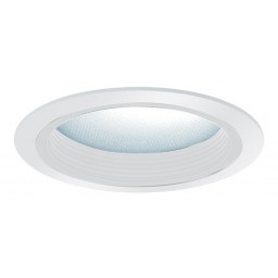 "5"" Recessed lighting baffle with albalite lens trim white/white"
