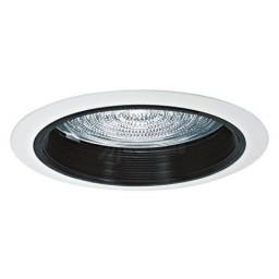 "5"" Recessed lighting fresnel lens black baffle white trim"