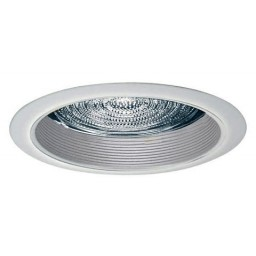 """5"""" Recessed lighting fresnel lens white baffle white shower trim"""