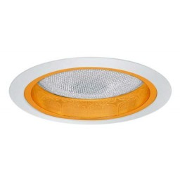 """5"""" Recessed lighting reflector with albalite lens trim gold/white"""