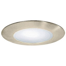 """5"""" Recessed lighting shower trim with albalite lens satin"""
