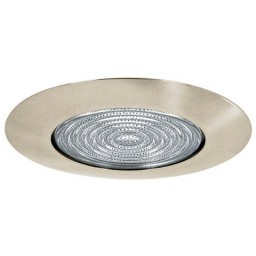 "6"" Recessed lighting fresnel lens satin shower trim"