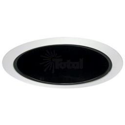 "6"" Recessed lighting Par 30 R 30 specular black reflector white trim"