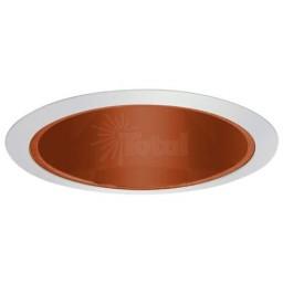 "6"" Recessed lighting A 19 specular copper cone reflector white trim"