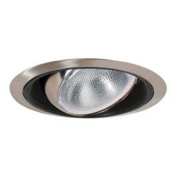 "6"" Recessed lighting regressed satin eyeball black baffle satin trim"