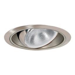 "6"" Recessed lighting regressed satin eyeball satin baffle satin trim"