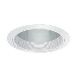 "6"" Recessed lighting specular clear chrome cone reflector white baffle white trim"