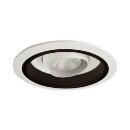 "6"" Recessed lighting Par 20 white regressed eyeball black baffle white trim"