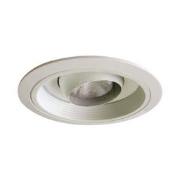 "6"" Recessed lighting Par 20 white regressed eyeball white baffle white trim"