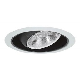 "6"" Recessed lighting Par 30 R 30 black regressed eyeball black reflector white trim"