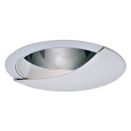 "6"" Recessed lighting wall wash specular clear chrome reflector white baffle white trim"