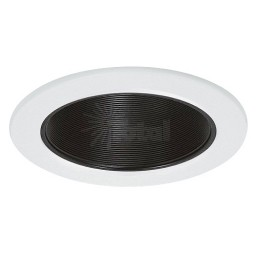 "6"" Recessed Goof Trim extra wide oversize ring black metal stepped baffle white trim Par 30 R 30"