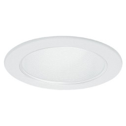 "6"" Recessed Goof Trim extra wide oversize white ring white metal stepped baffle trim Par 30 R 30"
