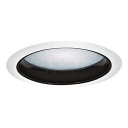 "6"" Recessed lighting albalite lens specular black reflector white trim"