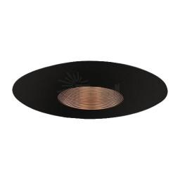 """6"""" Recessed lighting Par 20 bronze stepped baffle black trim TLS651BZ-BK"""