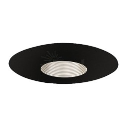 "6"" Recessed lighting Par 20 satin stepped baffle black trim TLS651SN-BK"