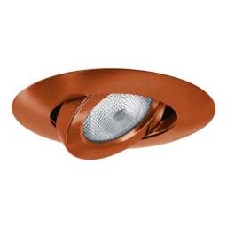 "5"" Recessed lighting bronze adjustable gimbal trim"