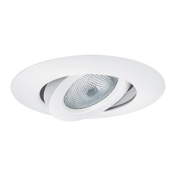 "6"" Recessed lighting PAR 38 white gimbal ring trim TLS664WH"