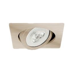 "6"" Recessed lighting Par 30 satin nickel square gimbal ring trim"