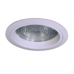 "6"" Recessed lighting compact fluorescent fresnel glass lens white baffle white shower trim"