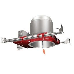 """Fire Rated 6"""" LED recessed lighting air tight IC housing, 1-Hour L500 P500, 2-Hour L505"""