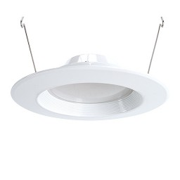 "Green Watt 6"" dimmable LED recessed lighting 18watt retrofit white baffle trim 4000K"
