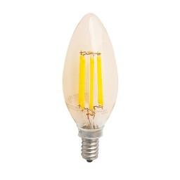 Recessed lighting LED vintage filament 4watt candelabra 2200K light bulb dimmable G-CAD4W22