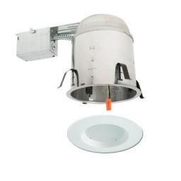 "5"" LED recessed remodel lighting kit remodel IC AT housing white LED retrofit trim"