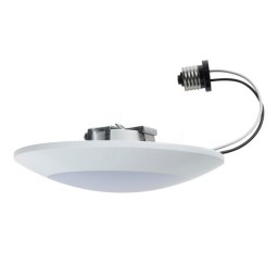 Maximus LED 13watt disk light downlight warm white 3000K with recessed lighting conversion kit M-13DSL-830-WFL-D