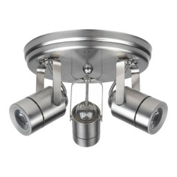Maximus LED 3 canopy surface light brushed nickel mini round 30watt narrow flood dimmable line voltage 120volt