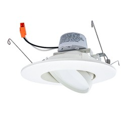"CLEARANCE Maxxima LED 5"" or 6"" recessed lighting 11watt retrofit white gimbal trim 4000K MRL-61150RNW"