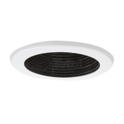 "6"" Recessed lighting 14watt LED retrofit black baffle white trim"